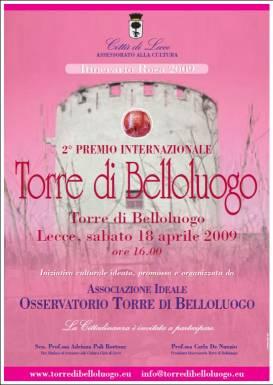 2° PREMIO INTERNAZIONALE TORRE DI BELLOLUOGO - Torre di Belloluogo - Lecce, 18 aprile 2009 (ore 16)